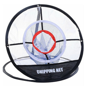 PGM Golf Pop UP Indoor Outdoor Chipping Pitching Cages Mats Practice Easy Net Golf Training Aids Metal + Net