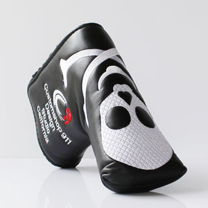 GOG New Two Colors Skull PU Golf Headcover  for Blade Golf Putter Free Shipping black white putter headcover
