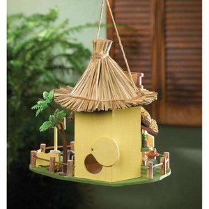 Tiki Hut Birdhouse - World of Birdhouses