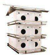 Birds Choice Original 3-Floor-12 Room Purple Martin House with Round Holes - World of Birdhouses