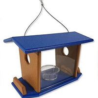 DutchCrafters Amish Made Hanging Bluebird Mealworm Feeder (Blue)