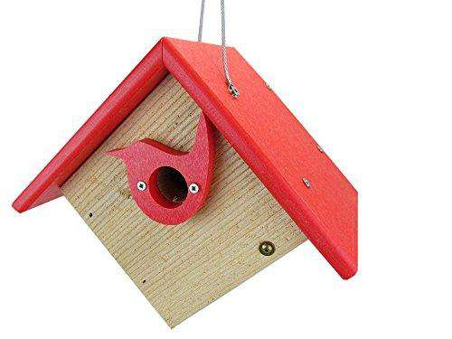 Nature Products Classic Red Cedar & Recycled Poly Lumber Wren Birdhouse♻️