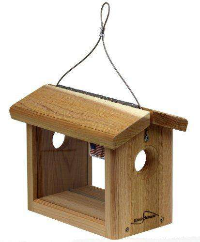 Kettle Moraine Cedar Hanging Bluebird Mealworm Feeder?? - World of Birdhouses