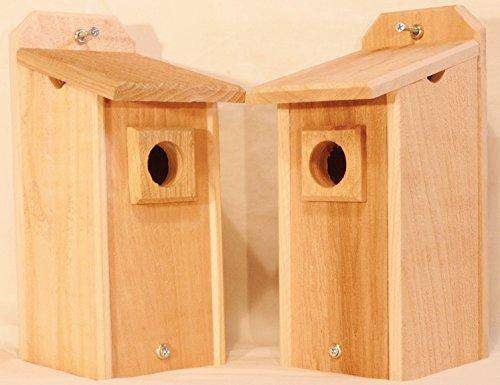 2 Cedar Bluebird Houses, Bird House - World of Birdhouses
