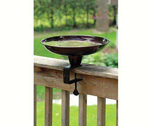 PineBush Deck Rail Birdbath