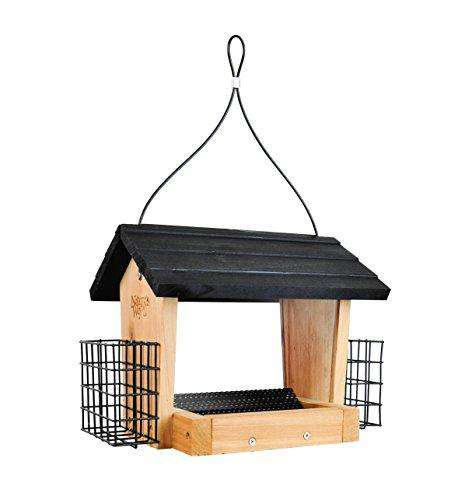 Nature's Way Cedar Hopper Bird Feeder with Suet - World of Birdhouses