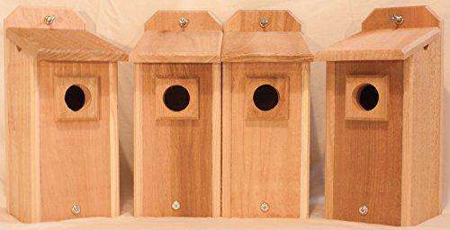4 Cedar Bluebird Houses - World of Birdhouses
