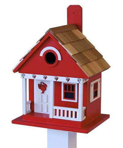 Home Bazaar Lobster Cottage Birdhouse
