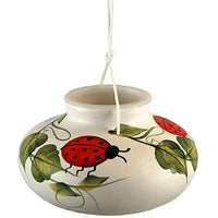 Ceramic Ladybug Hummingbird Feeder - World of Birdhouses