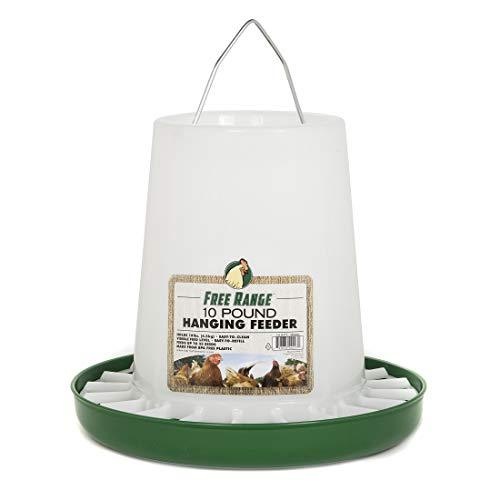 Harris Farms Free Range Plastic Hanging Poultry Feeder, 10 Pound, White