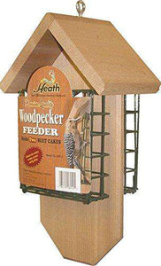 Heath Woodpecker Suet Feeder/Brown