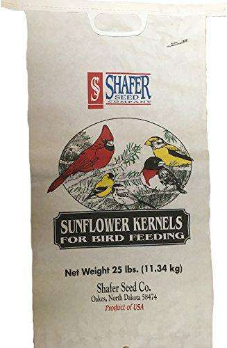 Shafer Seed 84052 Sunflower Kernels, 25-Lb Bag - World of Birdhouses