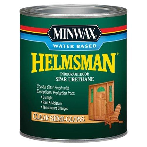 Minwax Water Based Helmsman Spar Urethane, quart, Semi-Gloss
