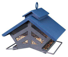 Audubon Chalet Metal Hopper Bird Feeder - World of Birdhouses