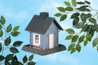 North States Village Collection Around Town Bird feeder-Blue Cottage - World of Birdhouses