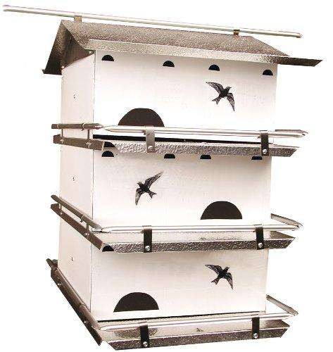 Birds Choice Waters Edge 3-Floor-6 Suites Purple Martin House with Starling Resistent Holes - World of Birdhouses