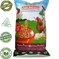 Amzey Dried Mealworms 11 LBS - 100% Natural Non-GMO