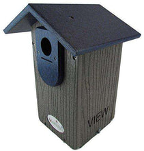 JCs Wildlife Gray Recycled Ultimate Bluebird House W/Blue Roof♻️?? - World of Birdhouses