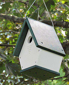 JCs Wildlife White/Green Wren Chateau Birdhouse♻️