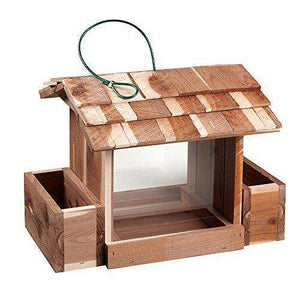 Woodlore Cedar Products Bird Feeder and Planter Combo - World of Birdhouses