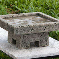 Campania International 1-Piece Kosei Birdbath, Alpine Stone