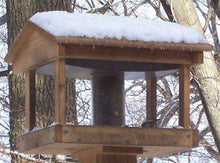 Stovall 6F Pavilion Feeder with Seed Hopper - World of Birdhouses