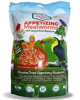Amzey Dried Mealworms 1 LB, 100% Natural Non-GMO