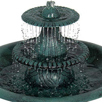 Best Choice 3-Tier Bird Bath Fountain Green