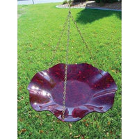 Birds Choice Hanging Acrylic Bird Bath/Red