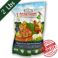 Amzey Dried Mealworms -2 LBS- 100% Natural Non GMO Mealworms