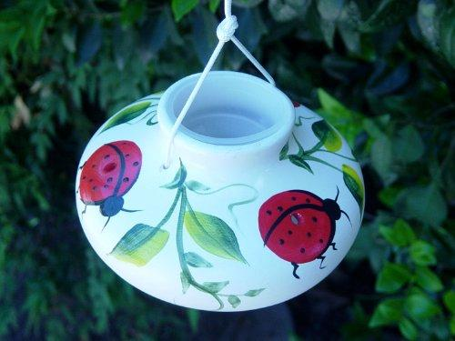 Ceramic Hummingbird Feeder - World of Birdhouses