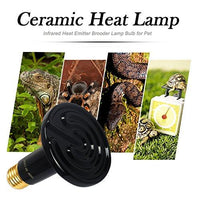 OMAYKEY 100W 2 Pack Ceramic Heat Lamp with 1-pcs Digital-Thermometer