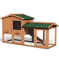 Tangkula Chicken Coop, Wooden Large Outdoor Poultry Cage 58""
