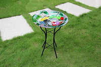 Liffy Outdoor Glass Bird Bath, Toucan