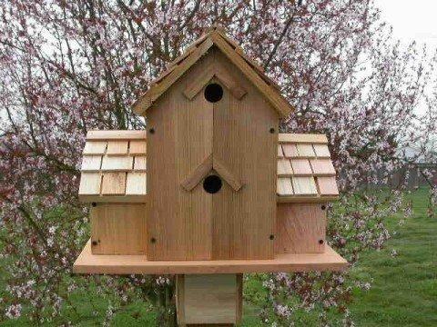 Cedarnest Cedar Birdhouse with 6 Separate Compartments