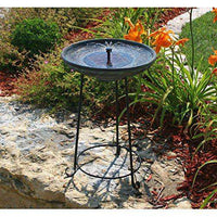 Smart Solar Somerset Verdigris Solar Bird Bath Fountain🚚