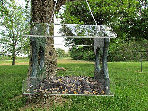 JC's Wildlife Recycled Hanging Birdfeeder/Green♻️