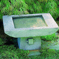 Campania International 1-Piece Kyoto Birdbath, Alpine Stone