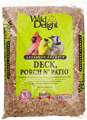 Wild Delight Deck, Porch N' Patio No Waste Bird Food, 20 lb - World of Birdhouses