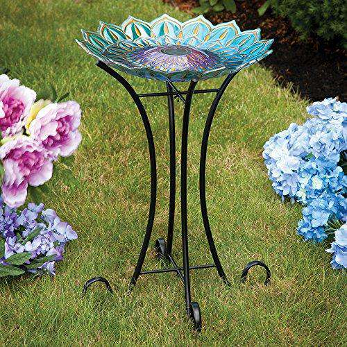 Bits and Pieces Solar Glass Birdbath LED Lights💡