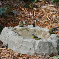 Birds Choice Rocky Mountain Ground Level Bird Bath with Dripper Tube
