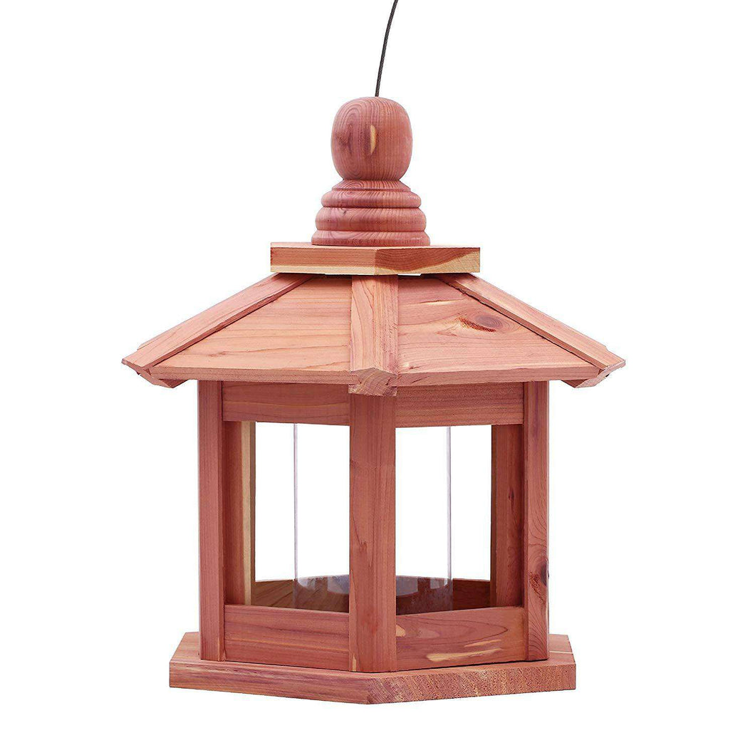 Worth Garden Cedar Deluxe Chalet Feeder