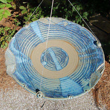 Anthony Stoneware Ceramic Bird Bath, Large, French Blue🚛