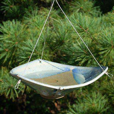 Ceramic Bird Bath - Word of Birdhouses