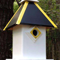 Wing & A Prayer Bird House/Black and Gold🚛