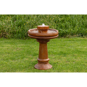 Alpine Corp Bird Bath Fountain with LED Light💡