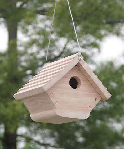 BestNest Classic Hanging Wren House - World of Birdhouses