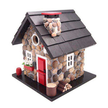 WINDY RIDGE HOUSE – STONE/RED/BLACK🚛 - World of Birdhouses