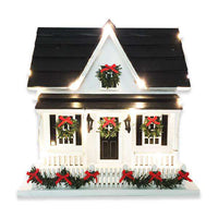 Decorative Birdhouse With Christmas Lights