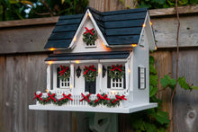 Christmas Birdhouse with lights